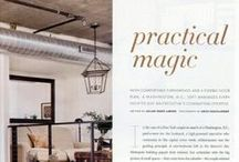 Luxe Interiors + Design, October 2013 Issue, featuring Paul Corrie Interiors / Practical magic with comfortable furnishings and a flexible floor plan, a Washington D.C. loft maximizes every inch to suit an executive's commuting lifestyle.