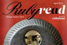 Ruby Read, April 2014 Issue, featuring Paul Corrie / Ready.. Set.. Refresh with D.C designer and Ruby Lane shop owner Paul Corrie
