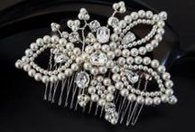 Beautiful Pearl headdress and jewellery / Pearl bridal accessories