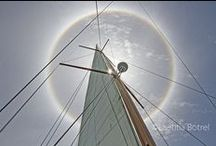 An halo around the sun / An halo  is an optical phenomenon, on 19th of July in Phuket