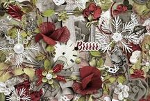 Winter Shivers / Full digital scrapbooking collection by Vero - The French Touch @ http://bit.ly/PBP_Vero