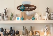 Jonathan Adler by Inside too / Jonathan Adler is Happy Chic and we love seeing how beautifully his products can be presented. We love the creativity and variety!