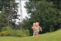 Fun for Kids / Here are photos of fun things to do onsite at Justin Trails Resort and locally. Our property is far from the main road and is safe for children to play. We offer many grassy spaces to play football, volleyball, bags, Jenga, etc. www.justintrails.com