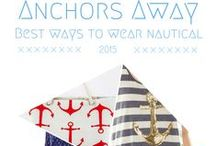 Anchors Away / This is a group board showing the best way to wear nautical this summer!  Classic and modern, Nautical is an easy way to show your style and be on trend. This trend is also great for 4th of July!