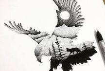 Kreslenie - zvieratá, vtáky .....