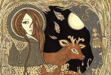 Imbolc Blessings / One February 1st, winter is only half-over and Yule/Christmas is long since past. Imbolc is a nice way to celebrate the growing strength of light and warmth, and the returning of life to the frozen Earth.  / by Sonia Even