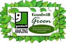 It's Easy Being Green  / Did you know that Goodwill is one of the greenest organizations on the planet? You may not realize it, but when you donate or shop at Goodwill, you set in motion a whole series of earth friendly activities. Every item you donate or purchase at a Goodwill store is one less item thrown away. It's instant recycling. The fact is, Goodwill was green before it became the trend that it is today, and we are proud of our commitment to preserving the environment.