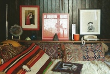 The Wes Anderson Bedroom / I think Wes Anderson would like our house. In particular, he'd be into our bedroom. It's an attic that was lovingly finished with high-quality, knotty pine paneling in the 70's. It's a quirky space with built-in bookshelves and weird nooks, and just begs to be adorned with javelina heads and vintage prints of cowboys. So far it's a blank canvas. / by Sonia Even