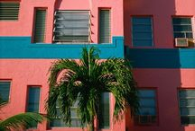 || WELCOME TO MIAMI || / Art Deco interiors, pastel ice cream colours mixed with neon brights, palm trees and pineapples and club tropicana vibes. I'm dreaming of Miami x