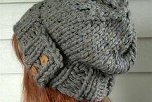 Handmade Gifts / Hand knit hats, hand beaded headbands