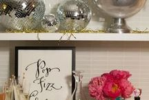 New Year's Eve by Havertys Furniture / Whether you're hosting a chic shindig or staying in to watch the ball drop, these glitzy pieces and shimmering accessories are sure to shine this New Year's Eve.