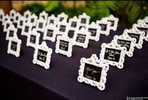 Place Setters / Escort cards and place cards for wedding receptions