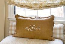 Burlap & Pillows / by Melissa Denee B