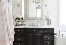 Bathrooms / Traditional and feminine bathrooms with a modern flair