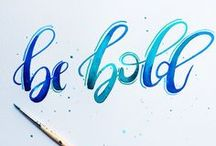 typography love / hand lettering and typography