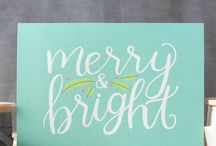 Merry and Bright / Bright Christmas decor and ideas for a very neon holiday
