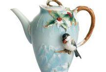 Poháre, flaše, vázy, čajníky, keramika