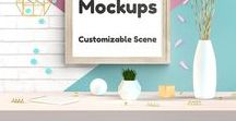 Frames Mockups / Customizable scene for your artworks