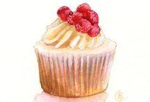 Dessert,food illustration