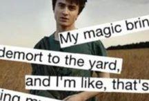 Harry Potter!! / I love Harry Potter... It's not weird. I promise.