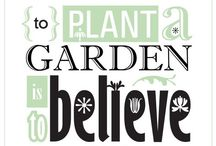 Gardening & random posters / Motivation and typography at its best