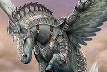 Pegasus / Artists are named wherever known - all artists and their copyrights are fully acknowledged, and cited where possible, but I have a lot of pins and I don't always know who created the piece! If you see a pin without an artist named and know who created it it PLEASE TELL ME IN THE COMMENT SO I CAN ACKNOWLEDGE THEM AS THE ARTIST! Thank you!!