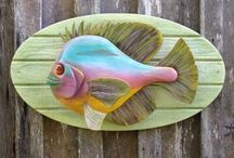 Fish Wood Sculptures