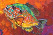 Fish Art / Fish Art, Fish Paintings, Fish Crafts.