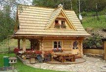 casa di tronchi