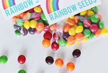 Ideas for Teagy's 1st birthday / Ideas for Teagy's Rainbow themed party