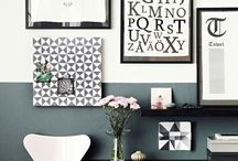 Half painted walls / Decorating with two colours