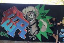 Graffitti / en este tablero existe una variada muestra de graffitis mios personales, y de otros artistas que voy añadiendo