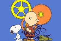 Peanuts / Cartoons of Charlie Brown, Snoopy, Linus, Sally, Lucy, Peppermint Patty and the rest of the Peanuts Gang. By Charles Schulz / by Mary Fisher