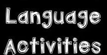 SPEECH and LANGUAGE ideas / Activities and ideas that promote speech and language with elementary students. These resources and strategies can be used in the regular classroom and in small group situations.