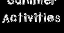 SUMMER activities / Summer activities and ideas for kids in Kindergarten to Grade 3. The resources support student learning in the math and literacy areas.