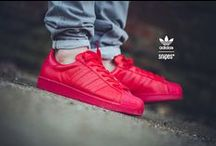 All red everything. / Red Sneaker Love.