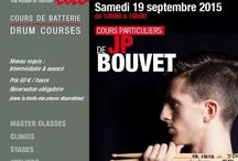 JP BOUVET / Friday 18th and Saturday 20th September 2015 in Paris at DrummingLab - 9 rue de L'Éperon - private lessons with JP BOUVET