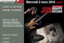 ETIENNE MBAPPE & NICOLAS VICCARO / Etienne MBappe bassplayer & Nicolas Viccaro drummer at Drumming Lab Paris (Frederick Rimbert)