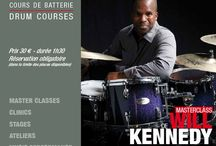 WILL KENNEDY / Will Kennedy - Masterclass - Monday, October 10th, 2016 h.14,00 in #Paris at #DrummingLab -rue de L'Éperon -