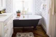 B A T H / Inspiration for the master bath and little half bath.