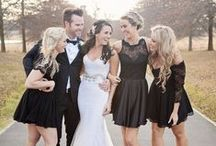 Black & White Weddings / Classic inspiration for all you chic, black-tie brides.
