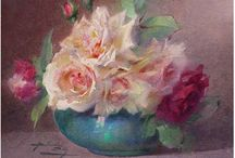Roses with artists eyes / Paintings / by Claudie💕🎀💕 Germond💕🎀💕
