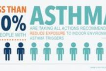 """Asthma / Asthma is a chronic inflammatory condition of the airway of the lungs.  The inflammation causes swelling, increased mucus production, and thickening of the airway lining. Symptoms include coughing, wheezing, shortness-of-breath, and chest-tightness.  The muscle layer of the lungs can become """"twitchy,"""" which can lead to an acute asthma attack when exposed to irritants in the environment."""