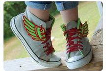 Shoe Wings / Everybody needs a pair of wings!  Don't they? / by Burlap and Bling Handmade Accessories