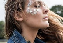 Festival Makeup / Festival makeup we love. Festival style we love. Festival glam we love. Here's a chance to go a little wild! Try out some of these funky fresh looks at your next music festival!