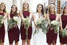 Marsala Inspired Weddings / The 2015 Pantone color of the year is perfect for earthy, fall weddings with a rich splash of color.