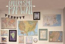 map ideas in home decor