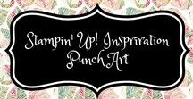 Stampin' Up! Inspiration Punch Art / stampin up, inspiration, punch art, inspiratie