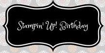 Stampin' Up! Birthday / stampin up, birthday, verjaardag, birthday card, verjaardagskaart