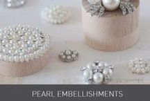 Pearl Embellishments / Pearl Embellishments perfect for your wedding invitations and stationery designs. See our website for inspiration and full ranges of laser cut invitations, embellishments, lace, ribbons and beautiful papers available at www.imaginediy.co.uk